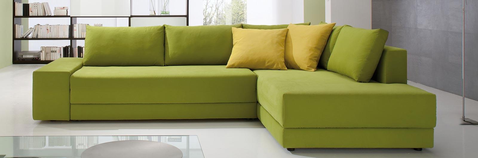 Das CONFETTO Eckschlafsofa mit Gästebettfunktion in 130x230 cm oder 150x230 cm Liegefläche