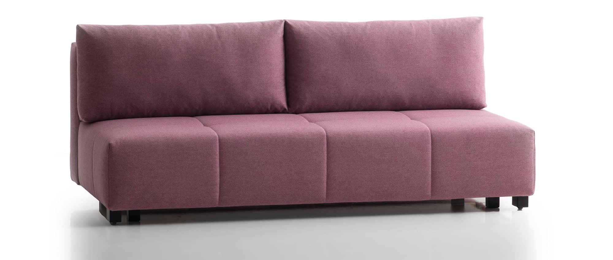 COSTA Schlafsofa mit Bettkasten von Franz Fertig in rosa. Gästebett für 2 Personen. Sofabett mit Bettkasten. Sofa mit Bettkasten
