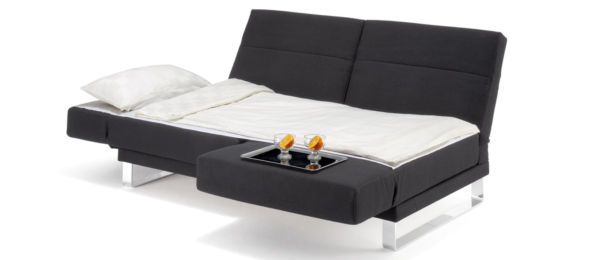 RIGA Schlafsofa von Franz Fertig - Liegefläche ca. 90x250 cm. platzsparendes Gästebett. Sofa mit Bettfunktion für eine Person.