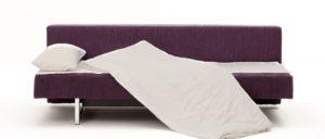 COIN Schlafsofa von Franz Fertig - Liegefläche ca. 70x200 cm. Ideales Gästebett für eine Person
