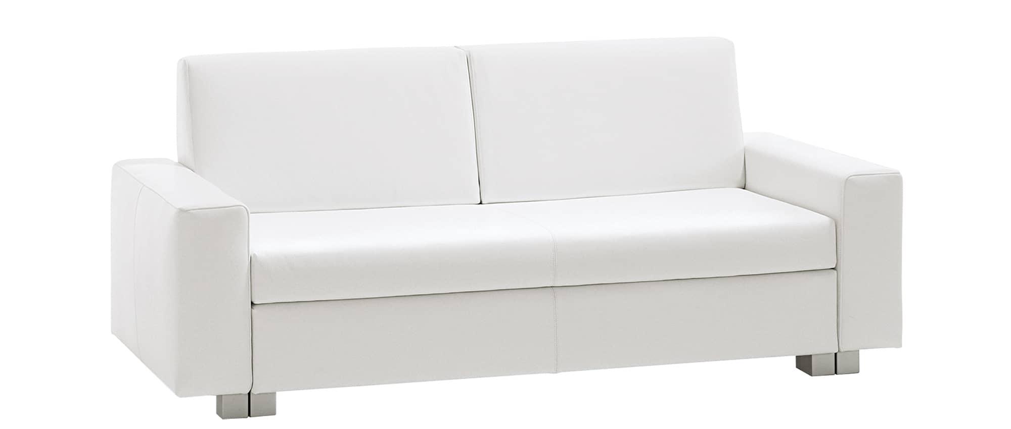 MINNIE Schlafsofa von Franz Fertig in weiß. Sofa mit Schlaffunktion. Bettsofa.