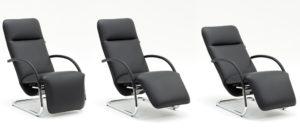 Relaxsessel FINO von Franz Fertig mit Rundrohr Gestell. Chrom glänzend, matt und schwarz wählbar. Franz Fertig bietet viele Stoffe zur Auswahl.