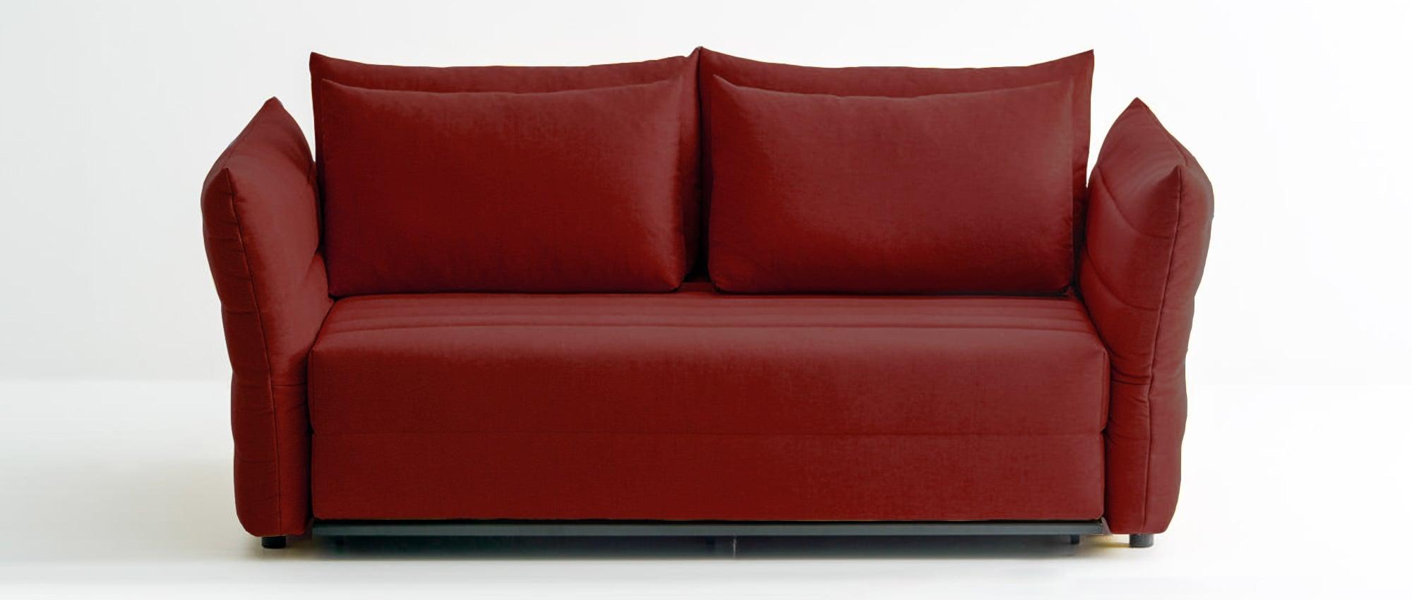 Schlafsofa ZERO von Franz Fertig in rot. Auch in grau, schwarz, weiß, grün, gelb usw. erhältlich. Franz Fertig hat eine große Auswahl.