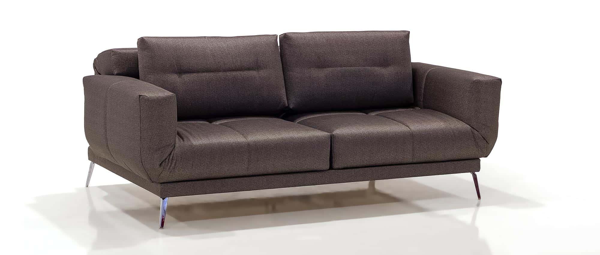 LETTO Schlafsofa von Franz Fertig in Leder braun. Weitere Leder und Stofffarben sind möglich. Gästebett für 2 Personen. Multifunktionales Sofa.