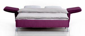 LUINO Schlafsofa von Franz Fertig - Liegefläche in ca. 130x210 und ca. 150x210 cm erhältlich. Gästebett für 2 Personen.