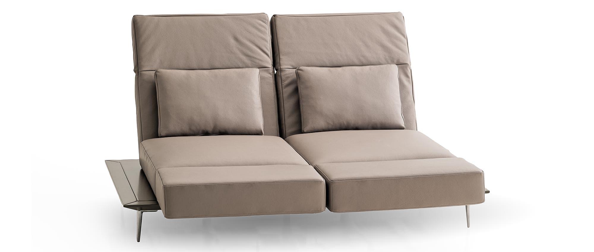 Schlafsofa MILAN von Franz Fertig mit klappbarer Rückenlehne. Multifunktionales Sofa. Sofa mit Bettfunktion. Gästebett für 2 Personen.