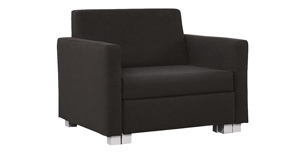 MINNIE Schlafsessel von Franz Fertig in schwarz. Schlafsessel für eine Person. Sessel mit Bettfunktion.