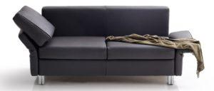 Schlafsofa CUBISMO von Franz Fertig mit klappbaren Armlehnen