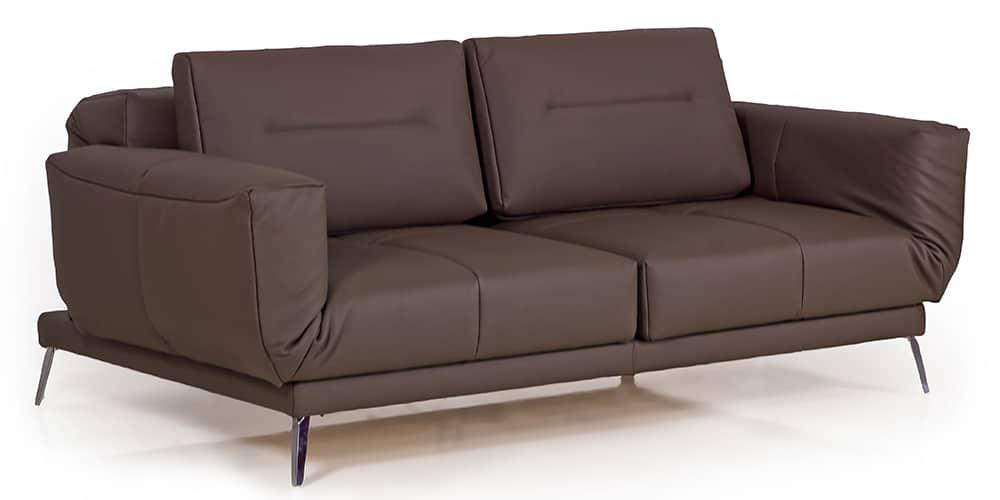 LETTO Schlafsofa von Franz Fertig in Leder braun. Weitere Leder- und Stofffarben sind möglich. Gästebett für 2 Personen. Multifunktionales Sofa.