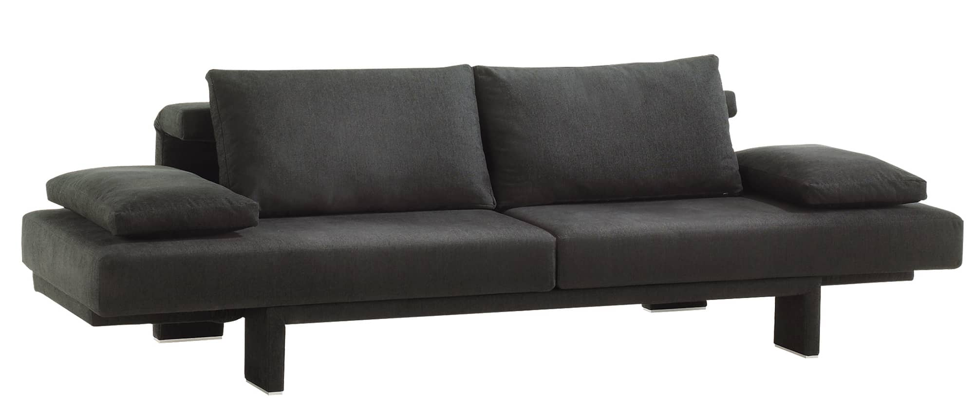SCENE Schlafsofa von Franz Fertig in schwarz. Multifunktionales Sofa. Sofa mit Schlaffunktion. Sofabett und Bettsofa